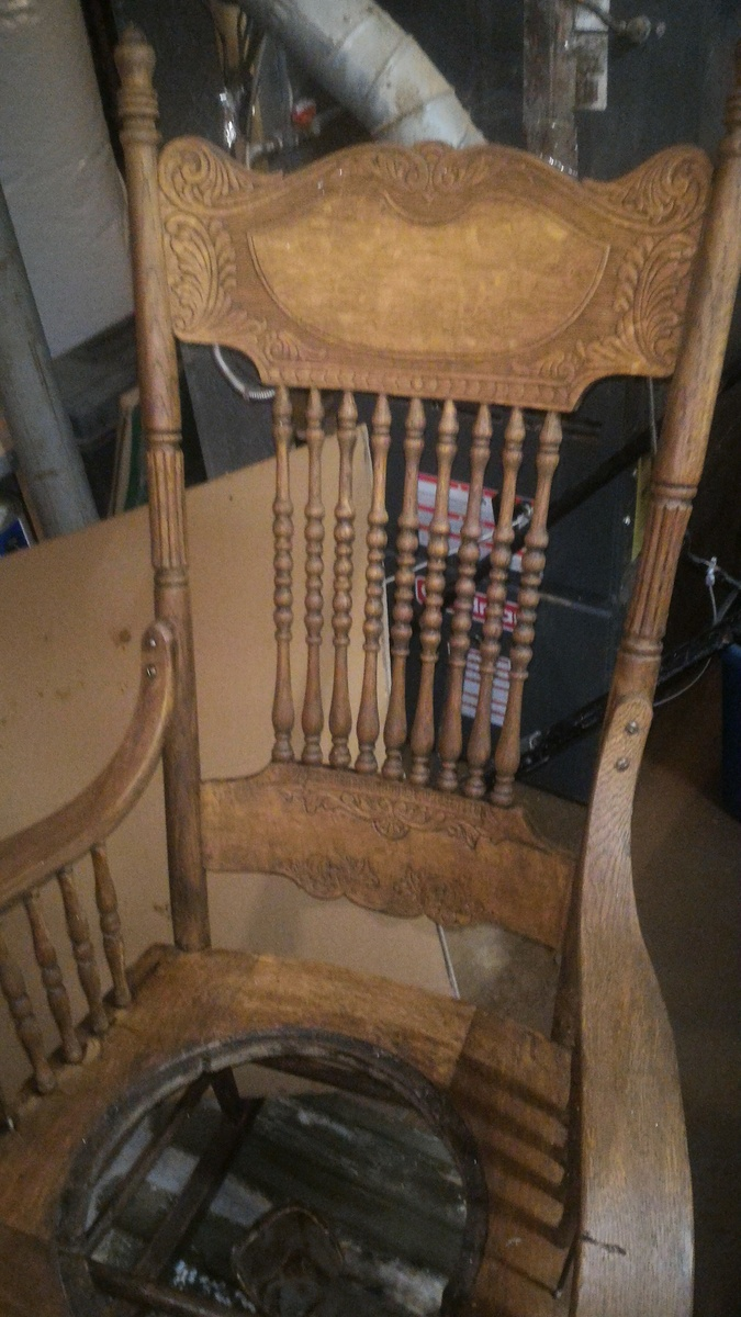 Strange Antique Rocking Chair With Tooled Leather Seat Collectors Cjindustries Chair Design For Home Cjindustriesco