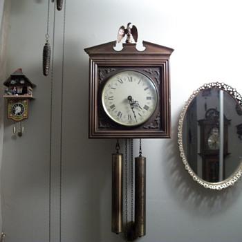 eight day bim bam strike clock by E. Schmeckenbecher of West Germany - Clocks