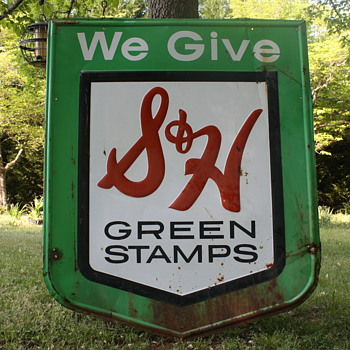Vintage S&H Greenstamp sign - Signs