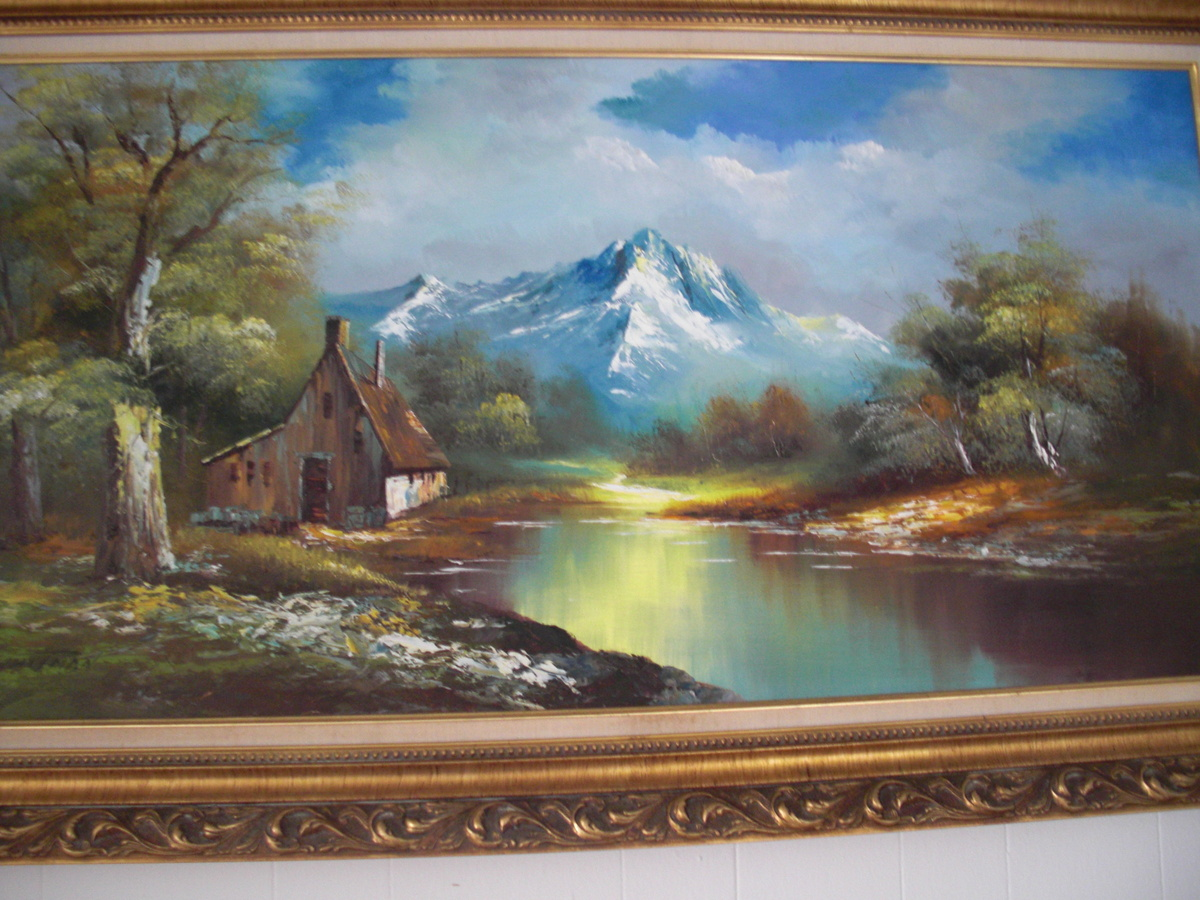 Vintage GWhitman Beautiful Landscape Oil Painting
