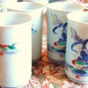 6 Tall Japanese Tea cups Age? probably (guess) 40's or 50's?