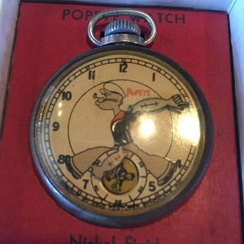 "1935 New Haven ""Popeye"" Pocket Watch - Pocket Watches"