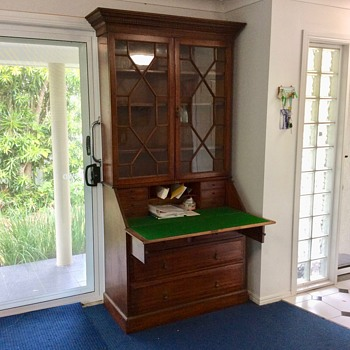 Secretaire Writing Desk and Bookshelf - Furniture