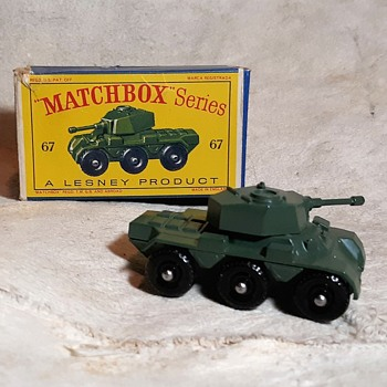 Marshalling Martial Military Matchbox Monday MB 67 Saladin Armored Car in D Style Box - Model Cars