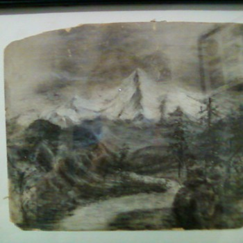 Old picture on sand paper?
