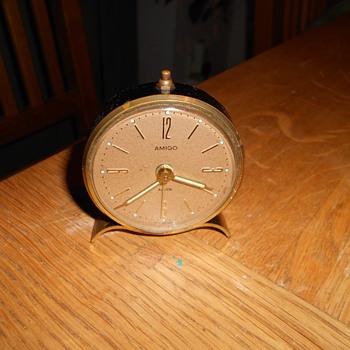 """Vintage """"Amigo"""" German Travel Alarm Clock. - Clocks"""