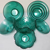 Set of Teal Glass Bowls_Made in Lithuania