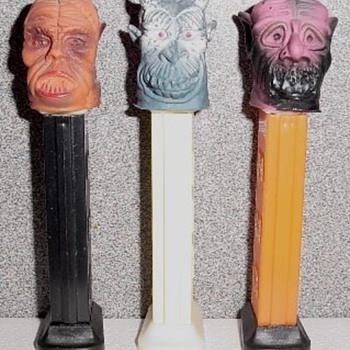 Pez Dispensers - Eerie Spectres, Football Players and Indian Chief - Toys