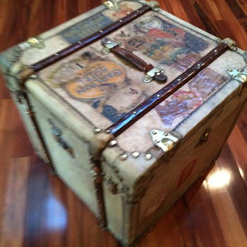 French (Cube) Trunk  Malle ELYSEE' Continued... - Furniture