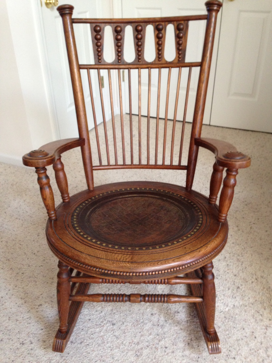 Exceptionnel Fryeburg, Maine Antique Oak With Leather Seat U0026 Matching Childu0027s |  Collectors Weekly