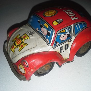 T. TAKATOKU 1960's Fire Chief Beetle friction