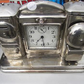 Mystery Chrome Alarm Clock/Night Light/Piggy Bank - Clocks