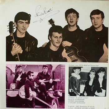Beatle Pete Best autographs - Music Memorabilia