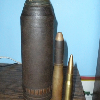 WWI era Skovill Model 1907 M Schrapnel Round. Fired!  - Military and Wartime