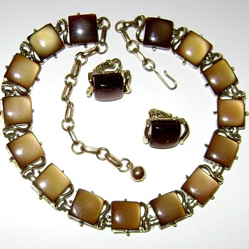 Coro Necklace and Earrings - Costume Jewelry