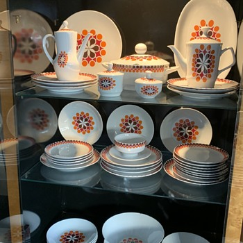 MCM Bavarian Dinnerware - Mid-Century Modern
