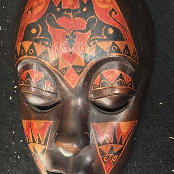 Wooden African Mask Estate Sale Find Unknown Markings??? - Fine Art