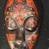 Wooden African Mask Estate Sale Find Unknown Markings???