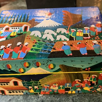 Painted Box - South American or Guatemalan Indian Crafts - Folk Art