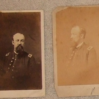 Civil War cdv pair of Frederick Brown - Military and Wartime