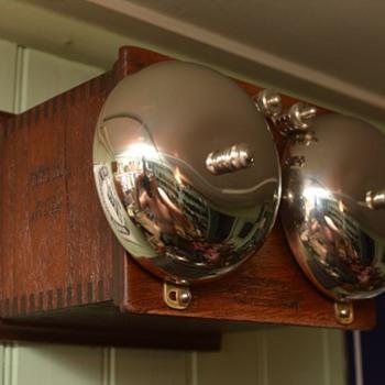 "New England Telephone & Telegraph Company TYPE 111 ringer w/ 4"" gongs - Telephones"