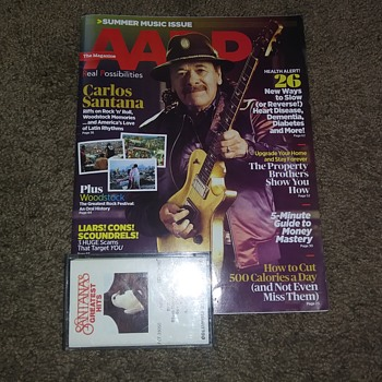 "For You""Iggymeister""!...Carlos Santana..On Magazine - Music Memorabilia"