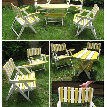 Folding outdoor furniture set - Furniture