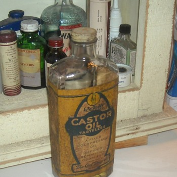 Owl Drug Company Castor Oil Bottle