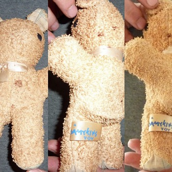 stuffed bear Damykins?  can't read exactly - Dolls