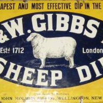 A selection of four sheep dip signs. - Advertising