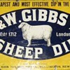 A selection of four sheep dip signs.