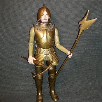Marx Sir Gordan The Gold Knight From the Noble Knights Late 1960s/Early 1970s - Toys