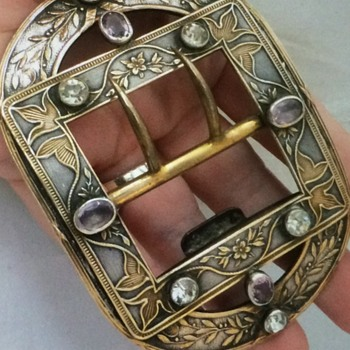 Victorian Arts and Craft Buckle - Art Nouveau