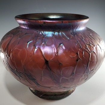 Art Glass Vase with Undeciphered Mark - Art Glass