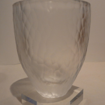 ORREFORS 'BATTUTO' VASE - JJ4744-22 - Art Glass