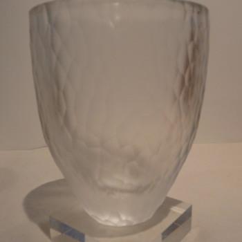 ORREFORS 'BATTUTO' VASE - JJ4744-22 - Art Glass