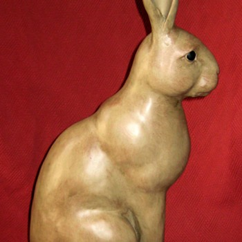 The Two Foot Tall Version Of My Bronze Pierre Chenet Sitting Hare Sculpture - Animals