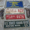 Military License Plates and Toppers