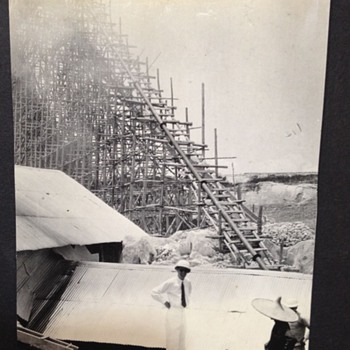 1930's Original Photographs In CHINA Appears to be some type of Engineering Project Going on  - Photographs
