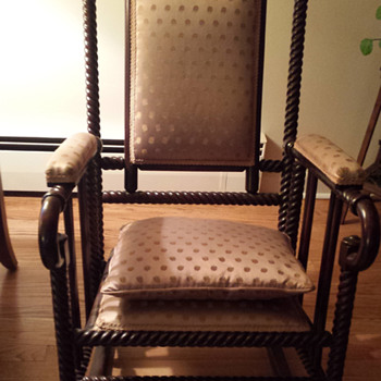 Grandmother's Mahogany Rocking Chair - Furniture