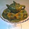 Spinach Jade Miniature Tea Set / Unknown Maker/ Circa 20th Century