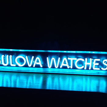 Neon bulova watch sign - Signs