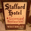Old Stafford Hotel Whitbread sign