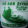 "ROSEDALE DAIRY ""FOR OUR DEFENSE"" WAR SLOGAN BATTLESHIP MILK BOTTLE......"