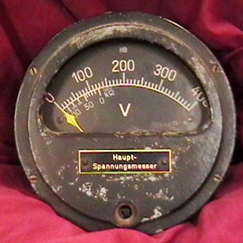 Guage from the WW II German Submarine U 776 - Military and Wartime