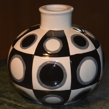 Op-art Vase - Pottery