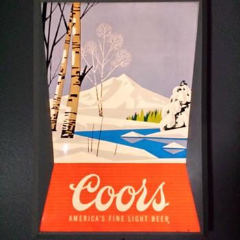 Coors Light Wall Sign - Breweriana