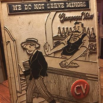 Champagne Velvet Beer Sign - Breweriana