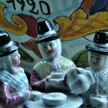 "Antique Fairing ""The Welsh Tea Party"" Made in Germany  - Figurines"