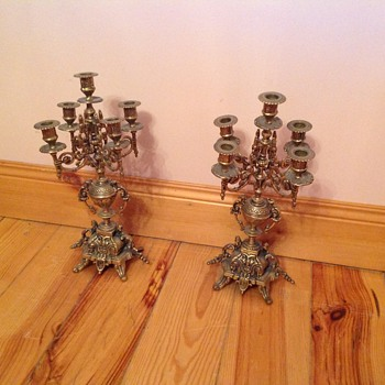 Brass candleabra - Lamps